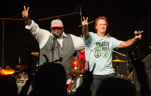 Crowds turn out for Peace Day concert